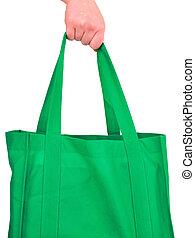 Carrying Reusable Green Bag