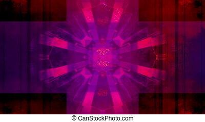 Geometric VJ loop abstract - Looping VJ loop multi color...