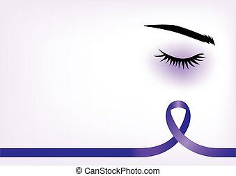 Purple Ribbon - Purple ribbon with blue eye, domestic...