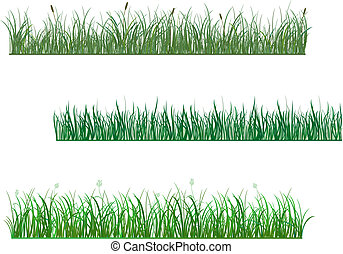 Green grass patterns