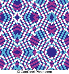 Geometric messy lined seamless pattern, colorful maze vector...