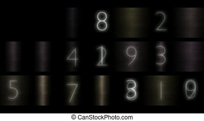 number,digital,password,metal background