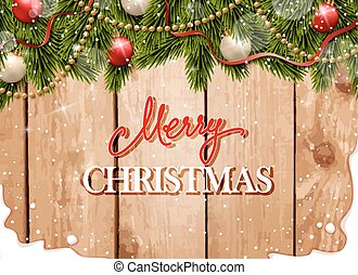 Christmas gretting card - Christmas gretting card with fir...