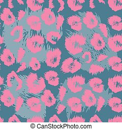 Leopard print pattern Repeating seamless vector animal...