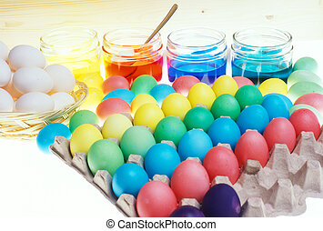 Easter eggs coloration