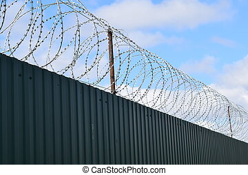 metal profile - Diagonal pattern of metal profile. Fences...