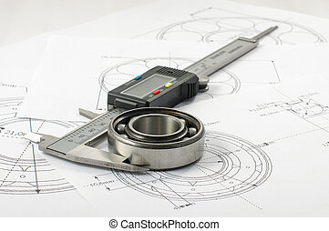 Measuring and precision concept - Precise instrument caliper...
