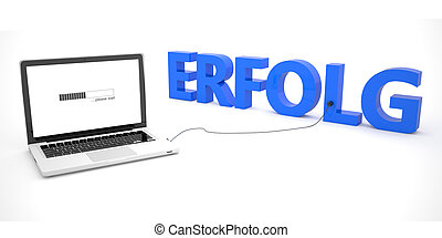 Erfolg - german word for successt - laptop notebook computer...
