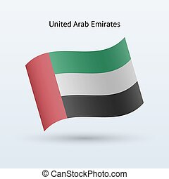 United Arab Emirates flag waving form. - United Arab...