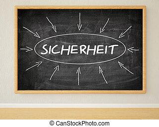 Sicherheit - german word for safety or security - 3d render...