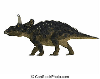 Diceratops Side Profile - Diceratops is a herbivorous...