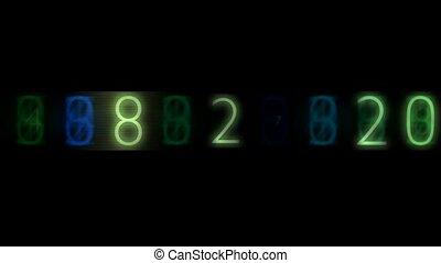 number,blue finance digital background