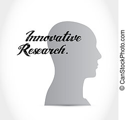 innovative research brain sign concept illustration design...
