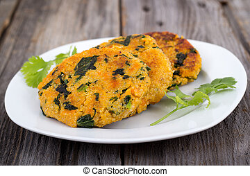 Sweet potato kale quinoa patties