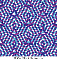 Geometric messy violet lined seamless pattern, colorful maze...