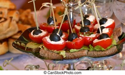 Tomatoes table snack tasty meal holiday beautiful olive -...