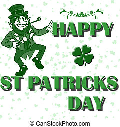 st patricks vector - happy st patricks day text with clovers