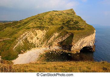 Worbarrow Tout beach Dorset coast - Beach view next to...