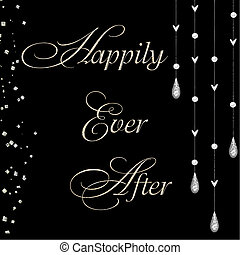happily ever after vector - happily ever after with jewels...