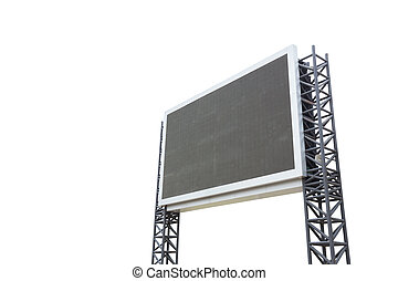 sign board - large sign board isolated on a white background...