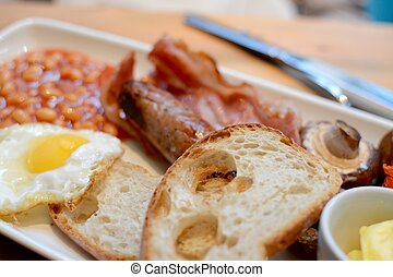 English Breakfast - A full fried English breakfast