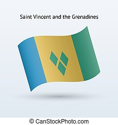 Saint Vincent and the Grenadines flag waving form. - Saint...