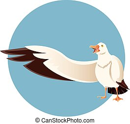 Happy greeting albatross - Vector image of a happy greeting...