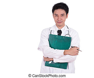 doctor with medical report