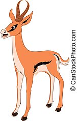 Happy cartoon Gazelle - Vector image of a happy cartoon...