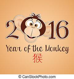 Year of the monkey - illustration of Year of the monkey