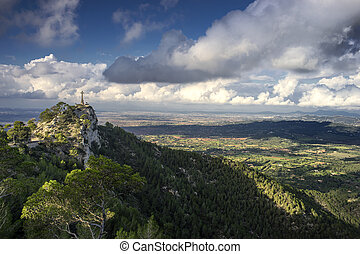 puig de san salvador in majorca, spain