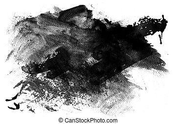 Grunge Paint blob - Abstract Grunge Paint blob on white...