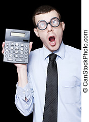 Surprised Mathematical Man With Financial Solution -...
