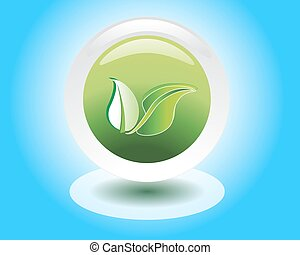 eco or bio friendly company logo