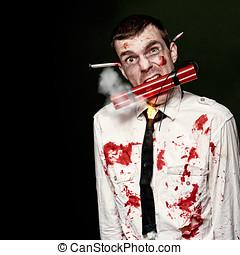 zombi, suicidio, bombardero, tenencia, explosivos, en, boca,...
