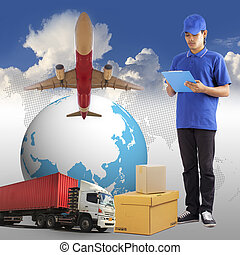 Worldwide Shipping - Delivery man, Worldwide Shipping