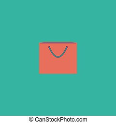 shopping bag, vector illustration