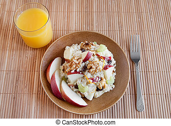 apple walnut salad - one plate of apple walnut salad similar...