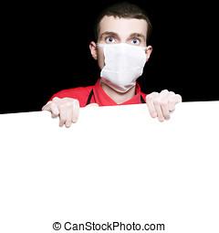 Male Healthcare Surgeon Holding Up Blank Board - Male...