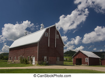 Country Barn - A well maintained Wisconsin barn stands tall...