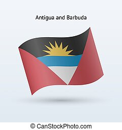 Antigua and Barbuda flag waving form - Antigua and Barbuda...