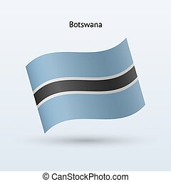 Botswana flag waving form Vector illustration - Botswana...