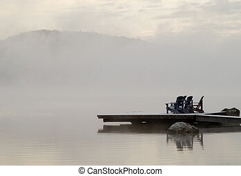 Rising Fog - Lakeview of morning fog