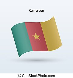 Cameroon flag waving form Vector illustration - Cameroon...