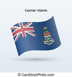 Cayman Islands flag waving form. - Cayman Islands flag...