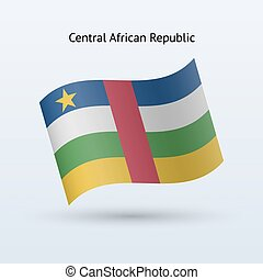 Central African Republic flag waving form. - Central African...