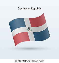 Dominican Republic flag waving form - Dominican Republic...