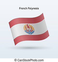 French Polynesia flag waving form. - French Polynesia flag...