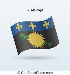 Guadeloupe flag waving form Vector illustration - Guadeloupe...