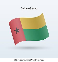 Guinea-Bissau flag waving form. - Guinea-Bissau flag waving...